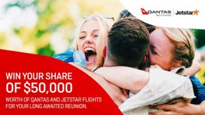Channel 7 – Sunrise Qantas Reunion – Win 1 of 50 flights valued at $1,000 AUD each