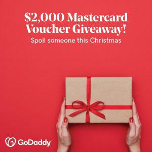 Go Daddy – Win a 2,000 Mastercard voucher