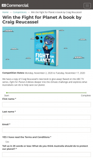 ABC Entertains Me – Win The Fight for Planet a Book By Craig Reucassel