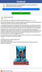 Allen & Unwin – Win Dash and Lily's Book of Dares By Rachel Cohn and David Levithan