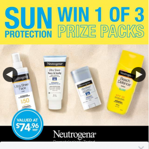 Amcal Pharmacy – Win 1 of 3 Neutrogena Sun Protection Prize Packs Valued at $74.96 RRP Per Pack (prize valued at $74.96)