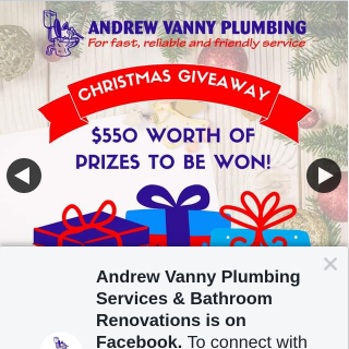 Andrew Vanny Plumbing – Win a Share of $550 Worth of Prizes As a Gift From Andrew Vanny Plumbing