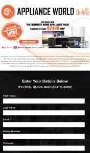 Appliance World Online – Win a Tcl Tv/ Lg Blu Ray Player/ Hisense Fridge/ Breville Juicer Bundle (prize valued at $2,389)