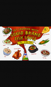 Asian Inspirations – Win 1 of 40 Prize Packs In The Get Creative With Squid Brand Fish Sauce (prize valued at $868)