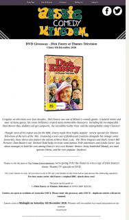 Aussie Comedy Kingdom – Win a Copy of Dick Emery's Classic Thames Tv Specials on DVD