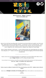 Aussie Comedy Kingdom – Win a Copy of Happy