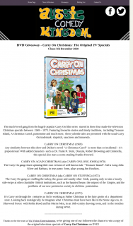 Aussie Comedy Kingdom – Win a Copy of The Original Television Specials of Carry on Christmas on DVD