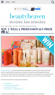 Beauty Heaven – Win a Wella Professionals Prize Pack
