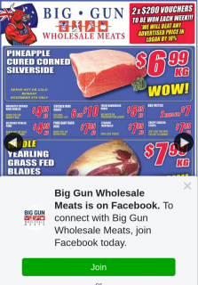 Big Gun Wholesale Meats Underwood – Win 1 of 2 X $200 Store Vouchers (prize valued at $400)
