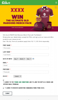 Bottle-O-XXXX – Win The Ultimate Qld Maroons Merch Pack With The Bottle-O