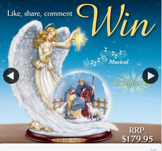 Bradford Exchange Australia – Win Thomas Kinkade Guiding Light Snowglobe (prize valued at $180)