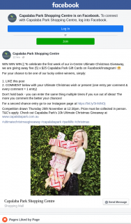 Capalaba Park Shopping Centre – Win    to Celebrate The First Week of Our In-Centre Ultimate Christmas Giveaway