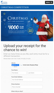 Central Lakes Shopping Centre – Win 1 of 4 $250 Central Lakes Gift Cards