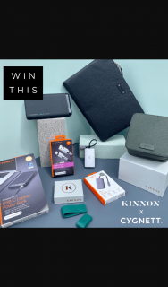 Cygnett and Kinnon – Win Our Pro on The Go Gift Pack Valued at Over $700 (prize valued at $729)