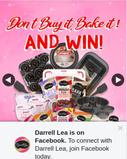 Darrell Lea – Win a $1000 Bundle of Darrell Lea Goodness Including a Baker's Dream Collection of Cookware Courtesy of Pyrex (prize valued at $2,000)