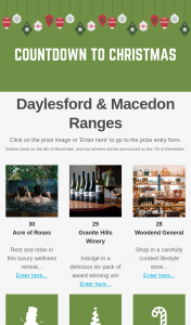 Daylesford & Macedon Ranges – Win 1 of 30 Prizes