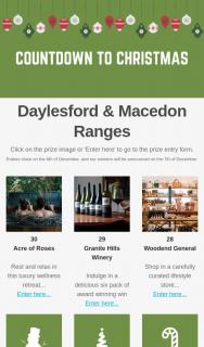 Daylesford & Macedon Ranges – Win 1 of 30 Prizes