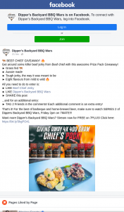 Dipper's Backyard BBQ Wars – Win a Beef Chief Prize Pack