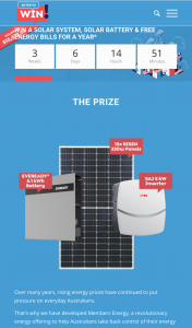 FREE Solar and Battery System and no energy bills for one year – Competition (prize valued at $15,572)