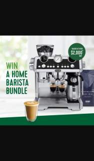 Freedom Foods-Woolworths – Win One of Eight De'longhi La Specialista Maestro Coffee Machine & Coffee Bundles (prize valued at $2,000)
