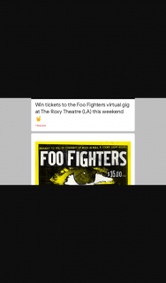 Frontier Touring – Tickets to The Foo