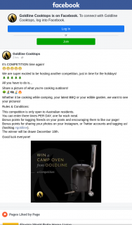 Goldline – Win a Camp Oven