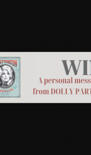 Hachette – Win a Personalised Message From Dolly Parton and a Copy of Her Book