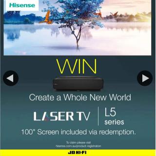 JB Hi-Fi – Win a Hisense 4k Hdr Ultra Short Throw Laser Tv