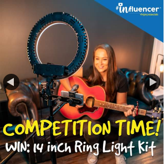 JB HiFi – Win an Influencer 14″ Ring Light Tripod Kit – the Ultimate Lighting Solution for Content Creators (prize valued at $199)