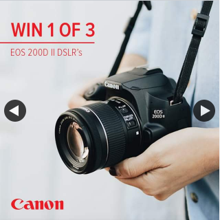 JB HiFi – Win One of Three Canon Dslr Cameras (prize valued at $2,997)