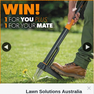 Lawn Solutions – Win 1 for You and 1 for a Mate (prize valued at $148)