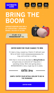 Logitech – Win a Qt Staycation Spending Money Valued at $4000 (prize valued at $4,000)