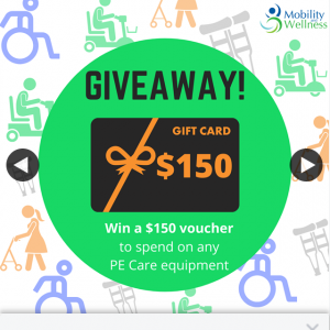 Mobility and Wellness – Win a $150 Gift Voucher to Spend on Any of The Pe Care Brand Equipment