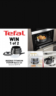 Mouths of Mums – Win One of Ten Tefal Ingenio Titanium Fusion 8-piece Cookware Sets (prize valued at $499.95)