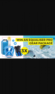 Ninja Shark – Win Our Full Equaliser Pro Gear Package to Take The Snorkelling Experience to The Highest Level (prize valued at $900)