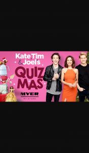 Nova FM Celebrate Quiz – Win Mas With Kate (prize valued at $20,000)