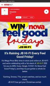 Nova FM – Win Jbhifi Vouchers