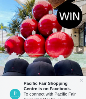 Pacific Fair Shopping Centre – Win 1 of 4 Tommy Hilfiger Black Caps to Celebrate 5 Sleeps 'til Black Friday With Hundreds of Sales (prize valued at $49.95)