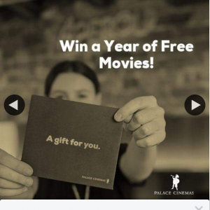 Palace Cinemas – Win a Year of Free Movies at Palace Cinemas