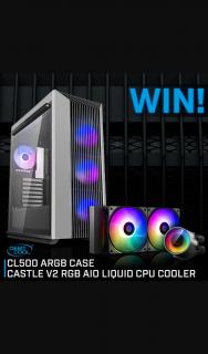 PC Case Gear – Win a Deepcool Cl500 Argb Chassis & Castle V2 Cpu Cooler