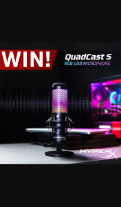PC Case Gear – Win a Hyperx Quadcast S Rgb Usb Microphone