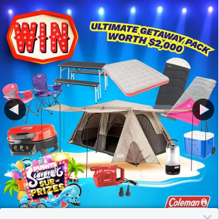 Pushys – Win a Coleman Getaway Pack Worth $2000