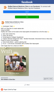 RedMed Natural Medical Clinic – Win a Glow Box