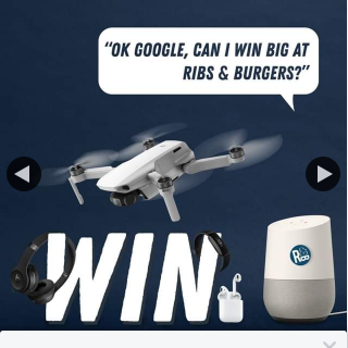 Ribs & Burgers – Win 1 of 21 Prizes