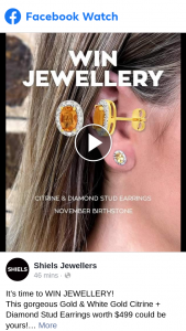 Shiels Jewellers – Win a Pair Gold & White Gold Citrine Diamond Stud Earrings (prize valued at $499)