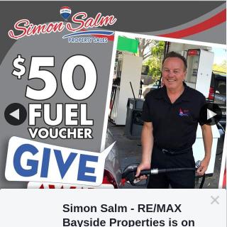 Simon Salm Re-Max Bayside Properties – Win a $50 Petrol Gift Voucher
