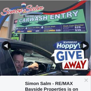 Simon Salm RE-Max Bayside Properties – Win an Ultimate Car Wash 🧼 at Hoppy's Car Wash Capalaba
