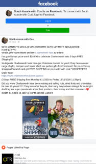 South Aussie With Cosi – Win a Charlesworth Nuts Ultimate Indulgence Hamper??
