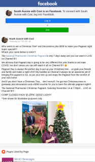 South Aussie With Cosi – Win a Christmas Tree and Decorations Plus $200 to Make Your Pageant Night Super Special
