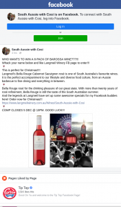 South Aussie With Cosi – Win a 6-pack of Barossa Wine??